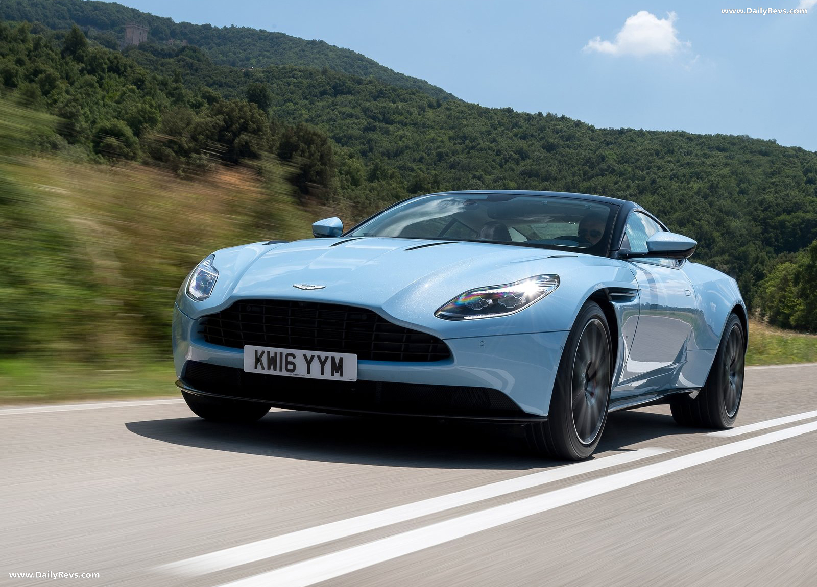 2017 Aston Martin Db11 Frosted Glass Blue Dailyrevs