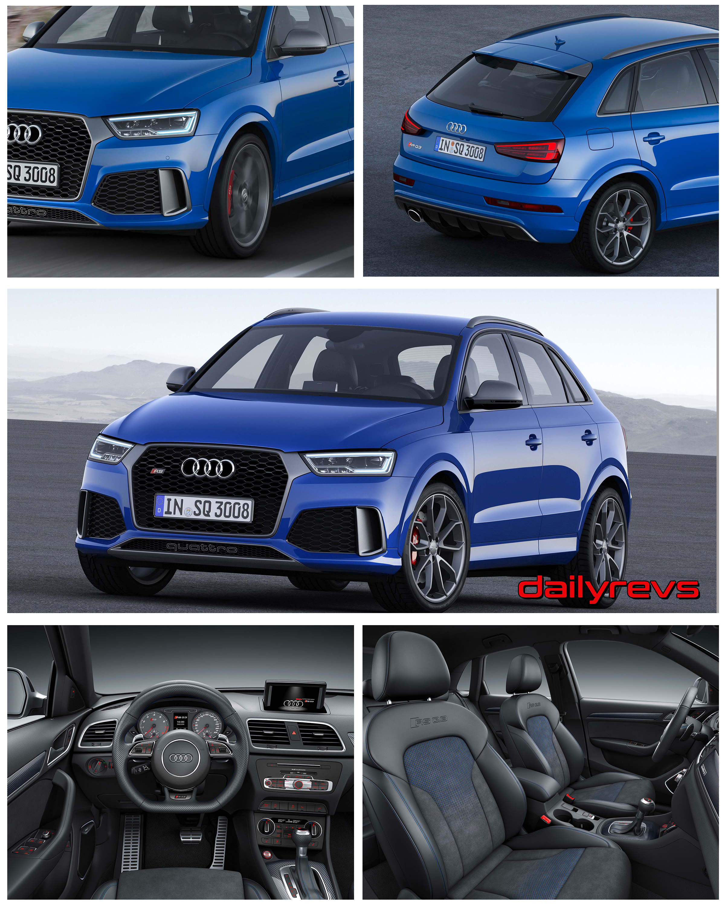 2017 Audi Rs Q3 Performance Hd Pictures Videos Specs Informations Dailyrevs