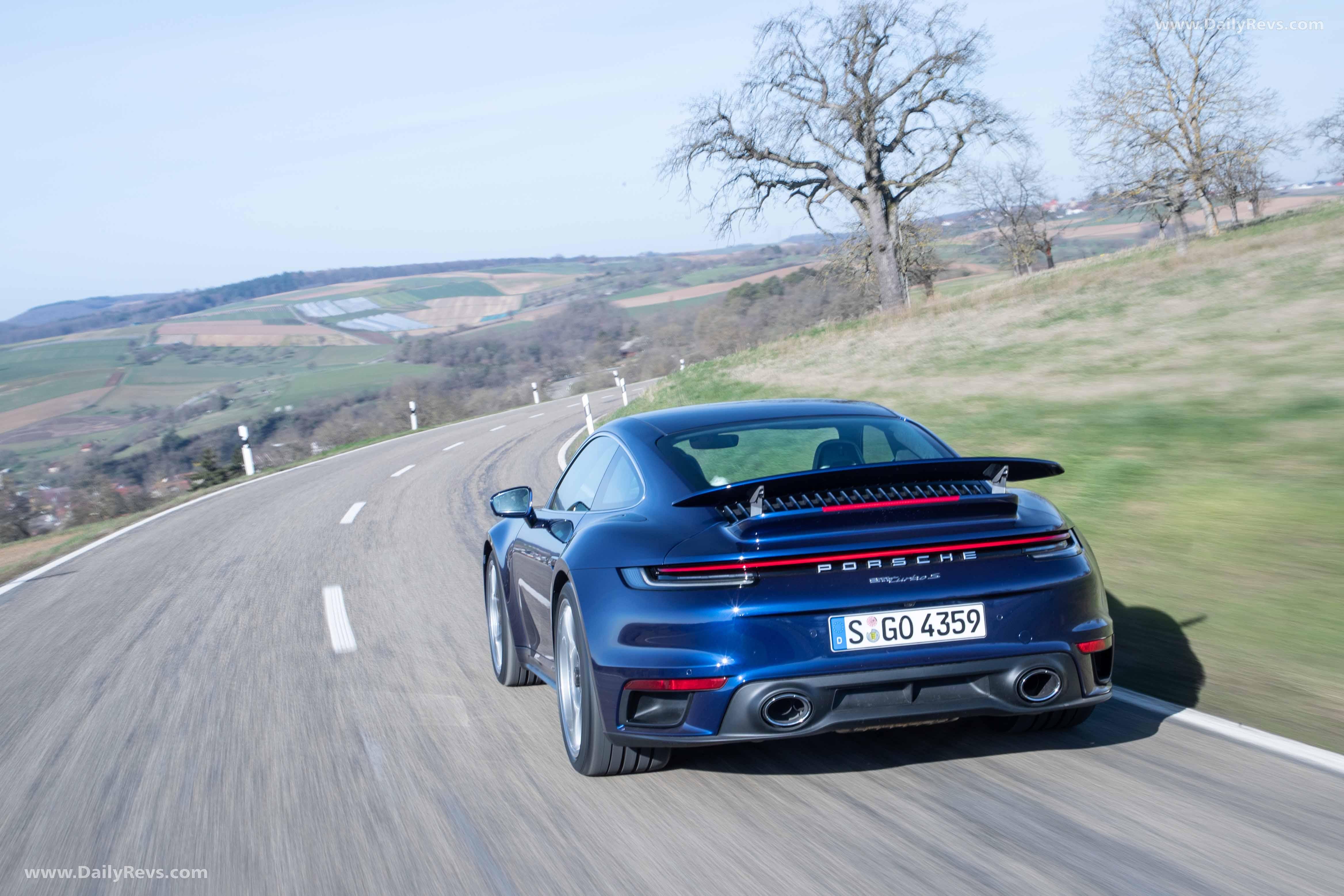 2021 Porsche 911 Turbo S Gentian Blue Metallic Dailyrevs